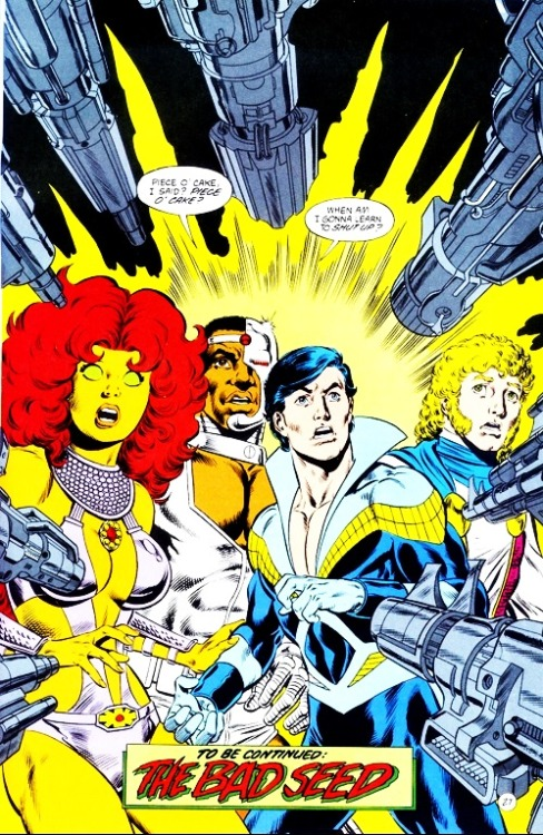 yellowcape:  - The New Titans 51 The team is off to another world to help Donna figure out her past. But Dickie, where's your mask?