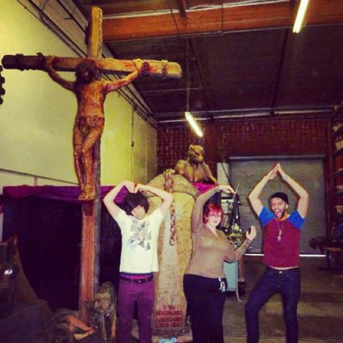 That's one of the dummies they used on Passion of the Christ. My friends and I decided to take a picture  with it… #tbt #me