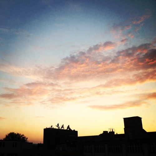 Home is where the wonderful sunsets are #berlin
