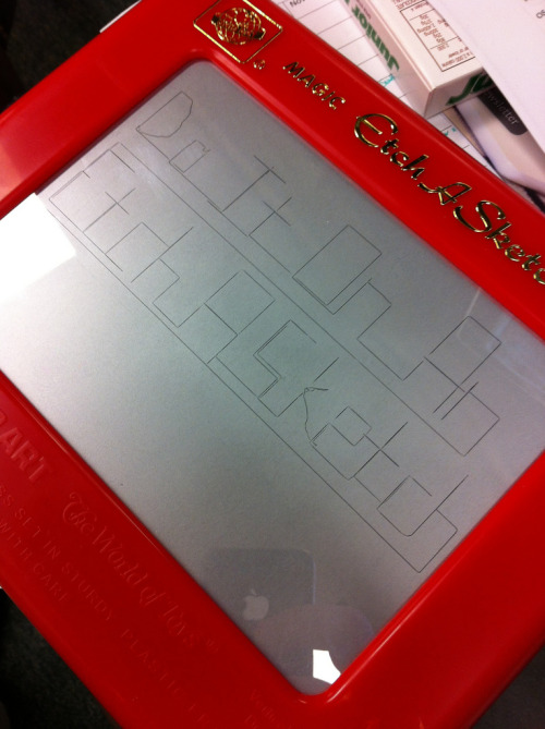 "Etch A Sketch inventor dies: Andre Cassagnes, the man who came up with the idea of a drawing tool that may have been the analog manifestation of the iPad, has died at the age of 86 in his native France. The electrician came up with the idea, which involves two small joysticks, aluminum powder and a scraping mechanism, in 1950 — a product which the Ohio Art Company still sells today, and occasionally gets a little pop-culture recognition. ""Etch A Sketch has brought much success to the Ohio Art Company, and we will be eternally grateful to Andre for that,"" Larry Killgallon, the company's president, said in a statement. ""His invention brought joy to so many over such a long period of time."" You brought the nine-year-old version of me a lot of fun, Andre. Thanks. (ht @margafret; photo by bionicteaching/Flickr)"