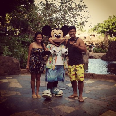 Emil's FIRST time meeting Mickey Mouse!  (at Aulani, a Disney Resort & Spa)