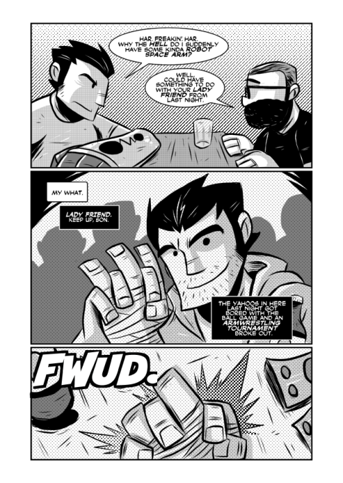 joebloodyhunter:  Yes, let's draw a comic about armwrestling and not be able to draw hands. Brilliant plan, Joe.  Dude, this is awesome. I can't wait for it! :D