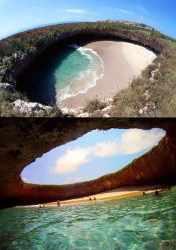 hkangela:  Amazing Hidden Beach on Marietas Islands in Nayarit, Mexico