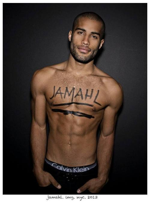 pinklotusflowers:  black-boys:  Jamahl Thompson by Rick Day  I couldn't hit reblog fast enough. Shit.