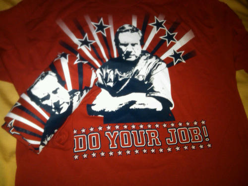 Still time to pick up a DYJ t-shirt for that special Patriots fan in your life for the holidays. Get them a one of a kind piece of fan swag that you can't get anywhere else! We have ladies style tees (including two white ladies mediums) as well. Sizes run a bit large for the fellas but they'll shrink a bit. Satisfaction guaranteed, bright and patriotic! Order in the paypal pull down in the right hand column!