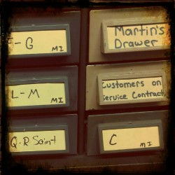 suz365:  Martin's drawer at Addressing Machines & Supplies-Viriginia Avenue Indianapolis