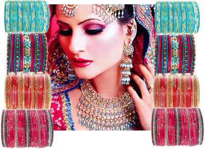 Bride from India by salome19 featuring set of bangles ❤ liked on Polyvore
