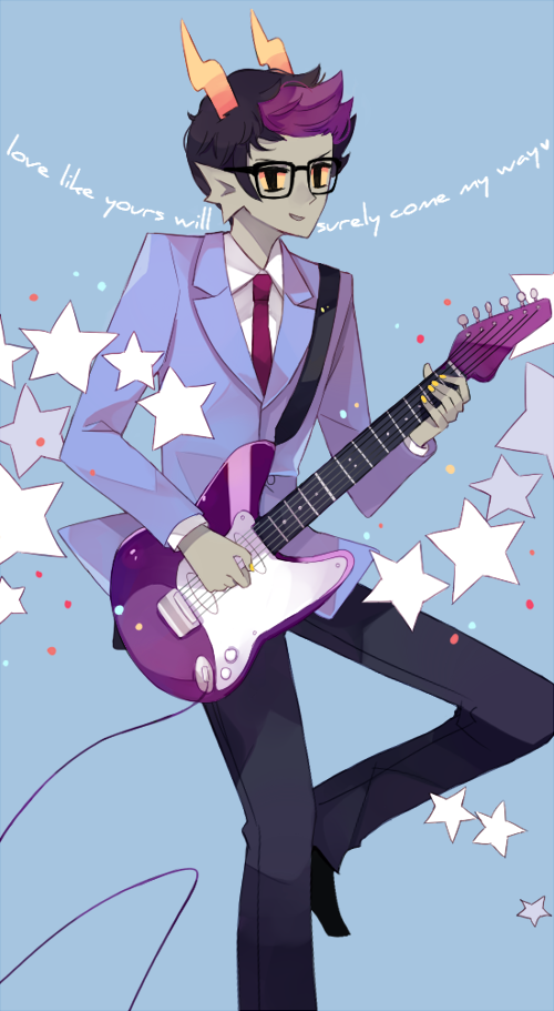 plushi:  draws eridan as 50s teen idol buddy holly and shrugs self into infinity