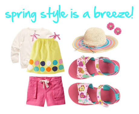 Here's a fun way to style our new Breeze/Sweet Love sandals for spring!  [Visit our Polyvore page for all of the details of this look.]
