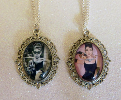 Audrey Hepburn Cameo Necklaces https://www.etsy.com/shop/CalamityJayneDesigns