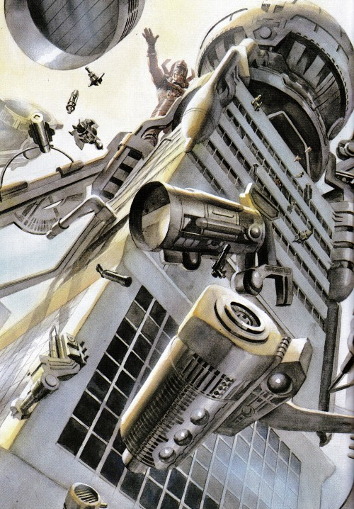 Galactus assembling his power converter by Alex Ross
