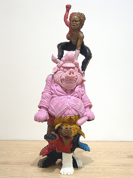 Ivan Witenstein, Tragic, 2008,fiberglass, epoxy resin and pigment, 51.25 x 19 x 21.5 inches