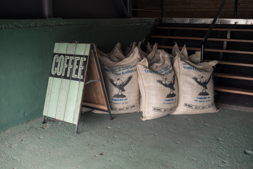 Coffee delivery at the Cup Roastery.