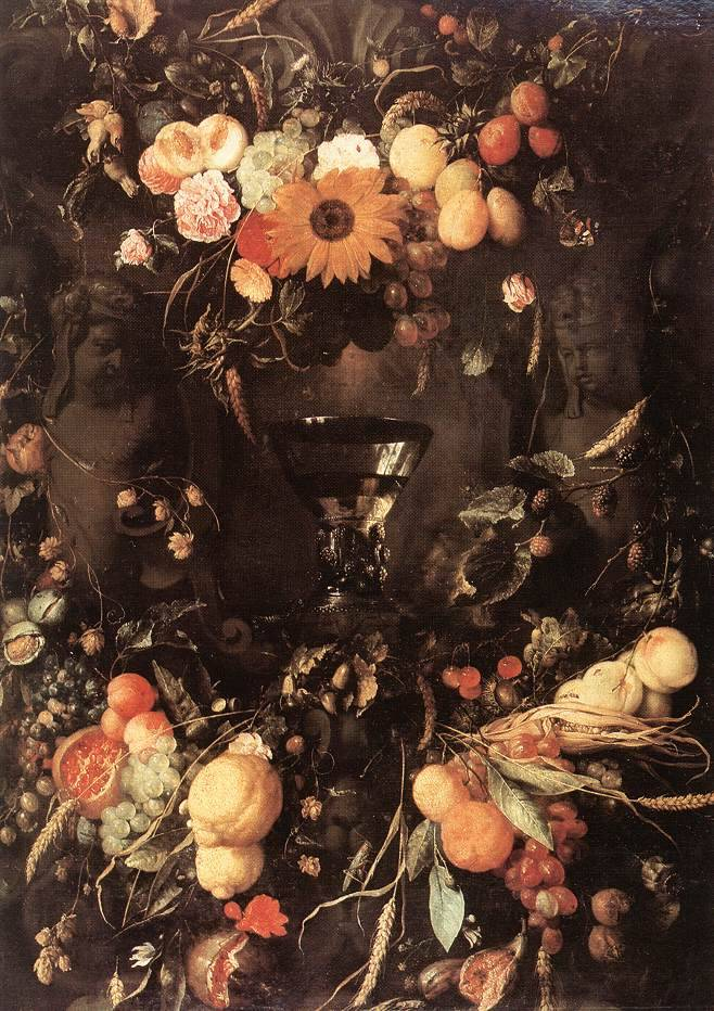 Fruit and Flower Still-Life  JAN DAVIDSZ. DE HEEM 1650