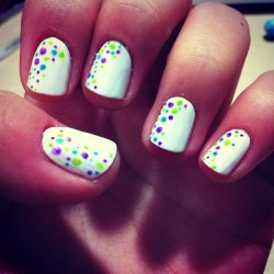 Bubbly nails :D :D