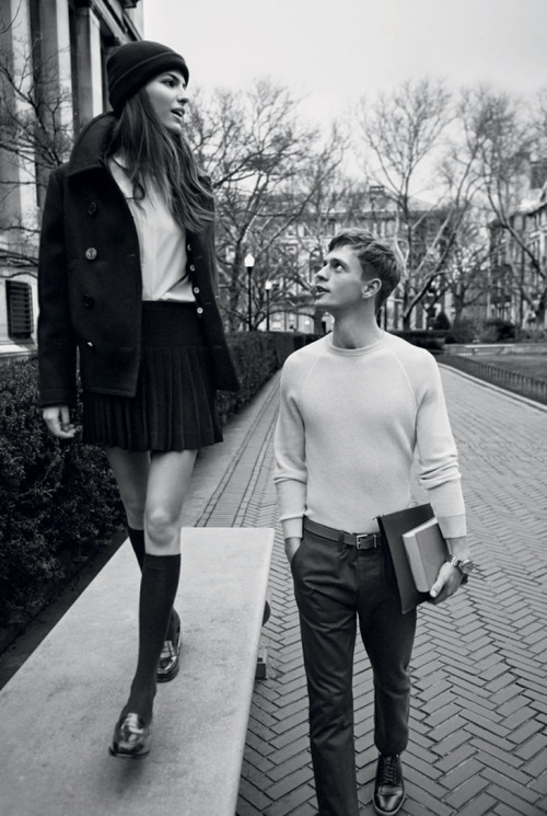 chicandrebel:  Cameron Russell & Benjamin Eidem for Man About Town Summer 2013