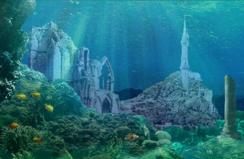 queenundomiel:  Numenor under the waves by Heather Harrington