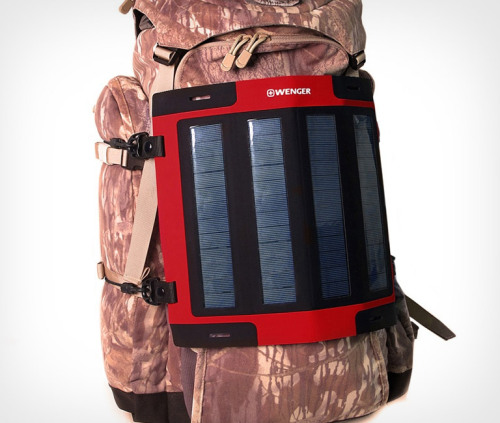Wenger Portable Solar Chargers. The connected outdoorsman's best friend.