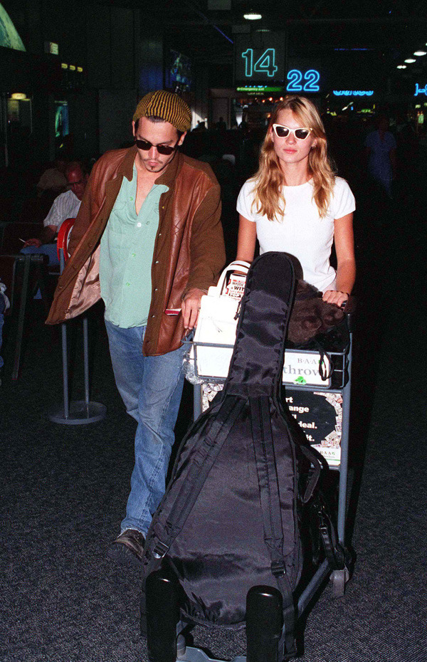Johnny Depp and Kate Moss in 1991