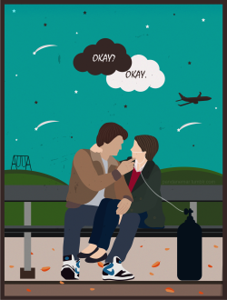 love Illustration quote Personal stars fan art john green the fault in our stars nerdfighters minimalist illustrator augustus waters hazel grace shailene woodley okay okay tfios movie flat design gus and hazel