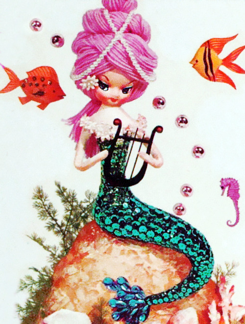 Meyercord mermaid decal c. 1960s