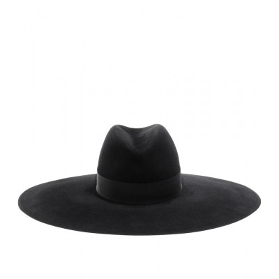 asthetiques:  SAINT LAURENT - WIDE BRIMMED FELT FEDORA.
