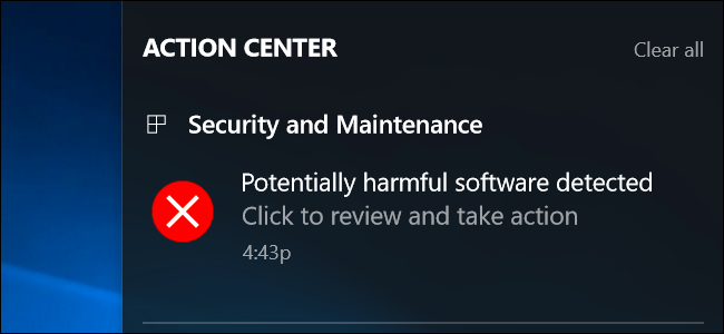 Fix Lỗi potentially harmful software detected windows 10