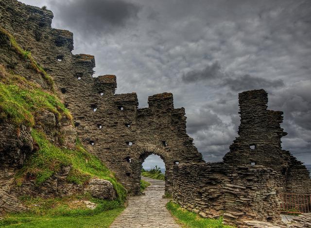 Tintagel Castle ruins by neilalderney1