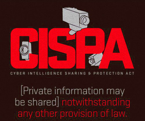 *** Did you hear that CISPA is back? ***  The misguided, anti-privacy bill — defeated last year by a huge public outcry — has been reintroduced in Congress and is up for a vote in the House on Wednesday.The new version of the bill would allow private companies to share our personal data with the government, other companies, and private agencies like the MPAA. Click here to join me in standing up to this assault on internet privacy:http://act.demandprogress.org/letter/CISPA_IBM?referring_akid=2122.654596.LlFy_L&source=mailtoThey don't need a warrant, and companies who share your information are given immunity from all pre-existing privacy laws!No wonder companies like AT&T and Verizon have already signed on in support. Click here to tell congress NO to CISPA: http://act.demandprogress.org/letter/CISPA_IBM?referring_akid=2122.654596.LlFy_L&source=mailtoSupporters of CISPA — like its sponsor Rep. Dutch Ruppersberger — have said they can't see any reason why businesses needed to hide your personal data from the government.They don't get it. Like last time, we need to take a stand against violations of our basic rights to privacy. Please join me in calling on Congress to oppose CISPA: http://act.demandprogress.org/letter/CISPA_IBM?referring_akid=2122.654596.LlFy_L&source=mailto