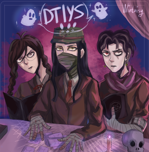 my dtiys from instagram :) it's still ongoing so you can join :)It's the OCCULT CLUB!!!!!! ! they do be summoningP.S.: I get notifications abt new followers and thought i must post here something too,, hii new people! (for real, better follow me on twi/insta cause tumlbr is lagging in my place seriously) #danganronpa#gundham tanaka#toko fukawa#korekiyo shinguji#ndrv3#sdr2#thh#touko fukawa#gundam tanaka#occult club#occult