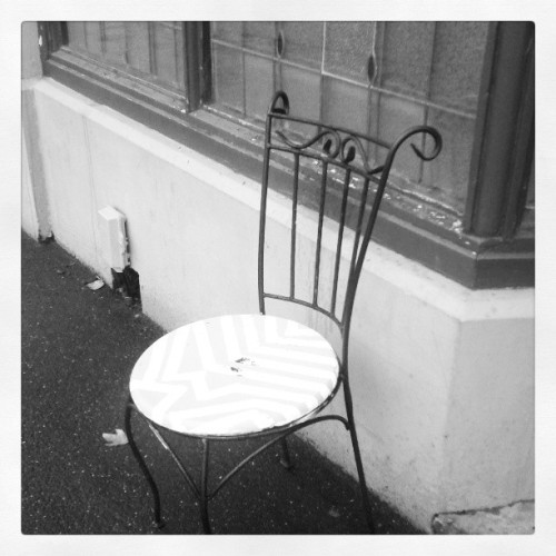 Seen on my walk home from work yesterday. #streetchairs #abandonned #Melbourne
