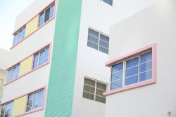 design Home green blue pink sea buildings Lacoste SoftSun