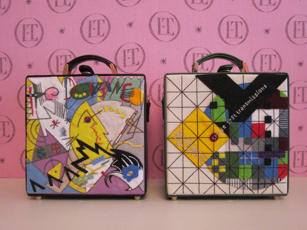 "The Damned and The Buzzcocks limited edition 7"" clutches by Olympia Le-Tan, available in May exclusively at olympialetan.com."