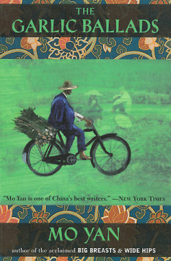 The Garlic Ballads, Mo Yan (F, 20s, tight blue and white minidress, black felt scarf, legs daintily crossed, L train) http://bit.ly/11I8dNH