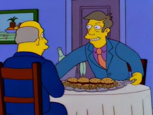 "eyeonspringfield:  ""And you call them steamed hams despite the fact that they are clearly grilled?"""