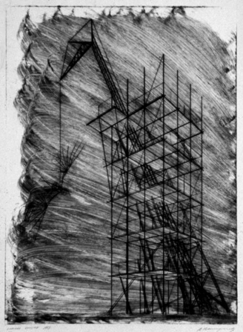 Yuri Avvakumov  Stair-Ladder barricadeRed Tower modelRed Tower drawing