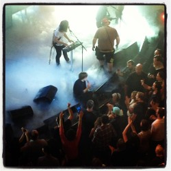 Thomas Mars of Phoenix just sitting & singing with the crowd at the Apollo Theater.  (at Apollo Theater)