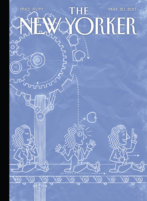 "newyorker:  A look at Christoph Niemann's interactive cover of this week's issue, ""Eureka"": http://nyr.kr/19hb1yM  This is a bit of fun."