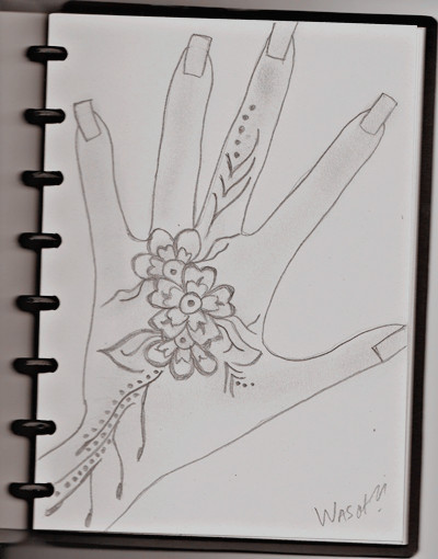 (Tattoo Henna sketch by me)