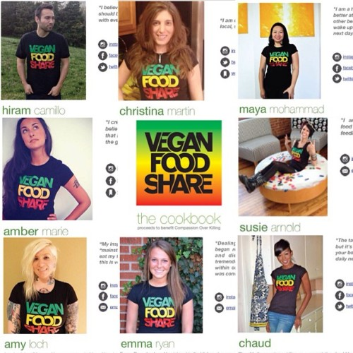 "Nothing but mad love to give to our ""Vegan Food Share: The Cookbook"" contributors!!! Donate to Compassion Over Killing by purchasing this #epic endeavor in collaboration!  We all worked hard to promote delicious cruelty free #vegan dishes, so why not do yourself a favor and purchase a copy at 👉http://www.cok.net/market/#VeganFoodShare or at our tumblr page at 👉veganfoodshare.com!  Check the comments to follow these great folks! Show them some love and appreciation! THANK YOU TO ALL!!! 🙏 #veganfoodshare  Top Row: 🌟✨@hiramcamillo✨🌟 🌟✨@chefchristina✨🌟 🌟✨@divaeatslife✨🌟  Middle Row: 🌟✨@chefambermarie✨🌟 🌟✨@souxsie✨🌟  Bottom Row: 🌟✨@janedoughxvx✨🌟 🌟✨@theveglife✨🌟 🌟✨@chaudsjuicetherapy✨🌟"
