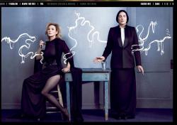 Marina Abramovic and Kim Cattrall for V magazine