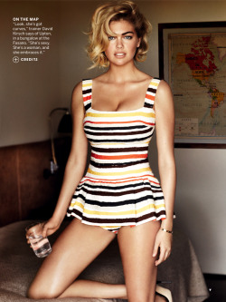 Kate Upton for American Vogue Photo by Mario Testino