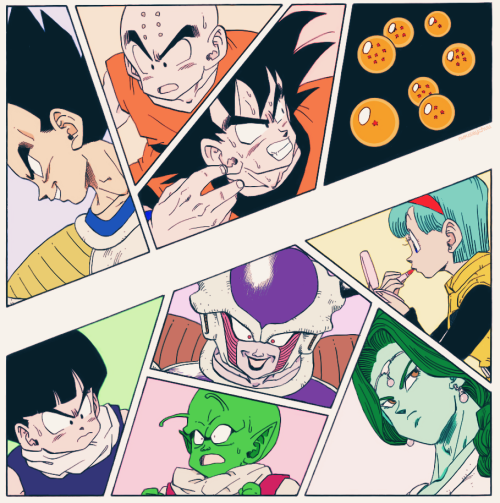 race for the dragon balls!!(coloring of mirai-budokai's original post)