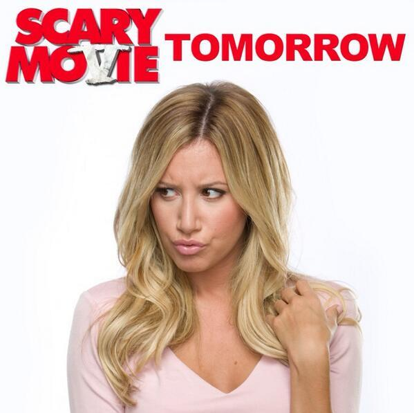 Ashley Tisdale - #ScaryMovie5 Premiere tonight with my wife @ashleytisdale ….in theaters tomorrow