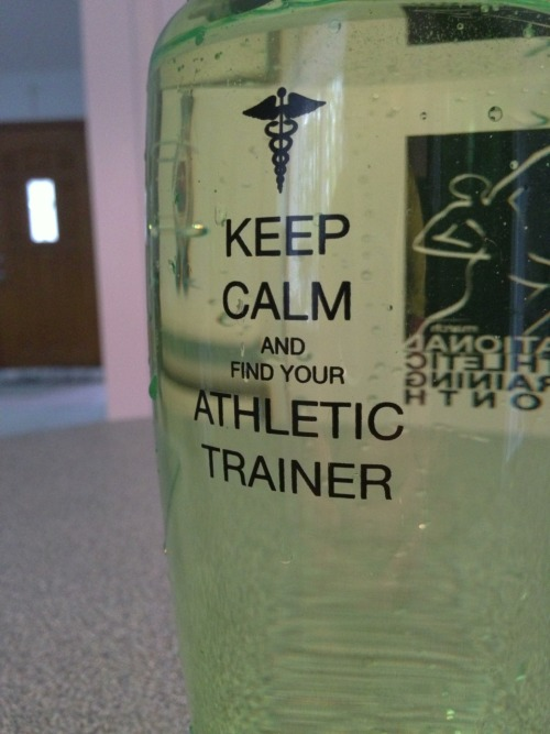 I loooove my water bottle from my school trainer 😍