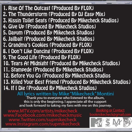 THE OFFICIAL TRACKLISTING FOR MY DEBUT ALBUM TO BE RELEASED JUNE 3rd!!! You can pre order today at www.selfishinstincts.bigcartel.com ..which track titles catch your eye the most?