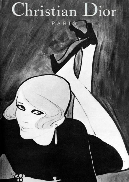 Christian Dior 1967 Illustration by René Gruau