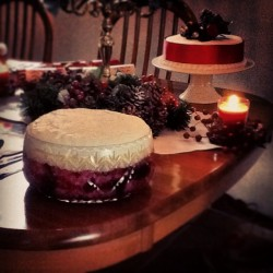 Battle of the deserts: My trifle or Mum's Christmas Cake. #food #christmas #christmasday #cake #trifle #festive #GoingToGetFat