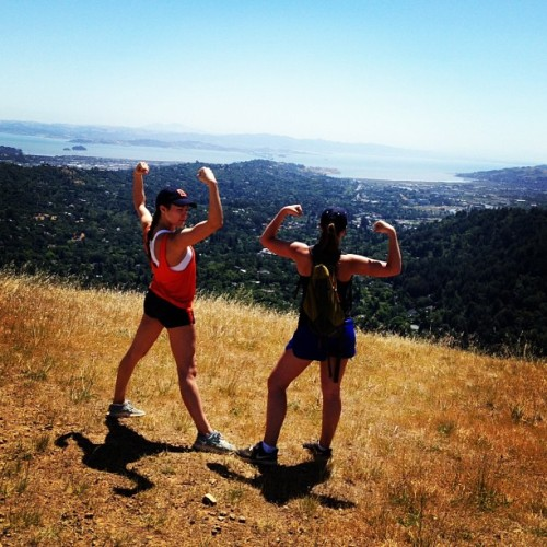 San Fran hiking with mama jones  (at baldy )