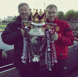 "iloveunited:  ""Sir Alex has meant everything to me and every other player he has had. He is an incredible person, he tries to make his players, not just good players but proper people as well and he has managed to do with every player he has had here."" - Paul Scholes"